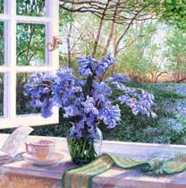 Bluebells on the Window Sill