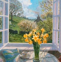 Daffodils by an Open Window