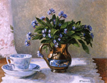 Forgetmenots in a Lustre Jug