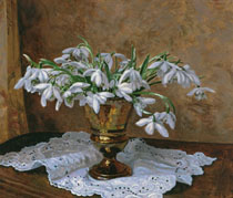 Snowdrops on the Side Table